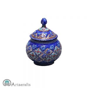 Enamel sugar bowl that is a kind of art&craft.