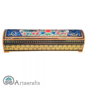 Large Hinged Flower Pencil Box