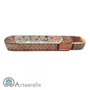 Large Flower Inlay Pencil Box